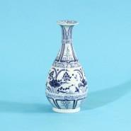 青花纏枝紋玉壺春瓶